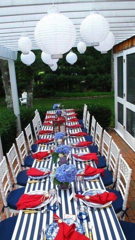 100 red white and blue 4th of july wedding ideas nautical tablenautical
