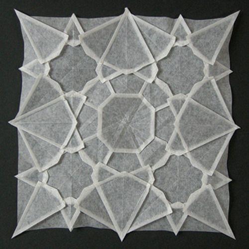 crease pattern origami: Ideas, Inspiration, Pattern, Art Paper, Paper Art, Origami, Design, Mandala, Crafts