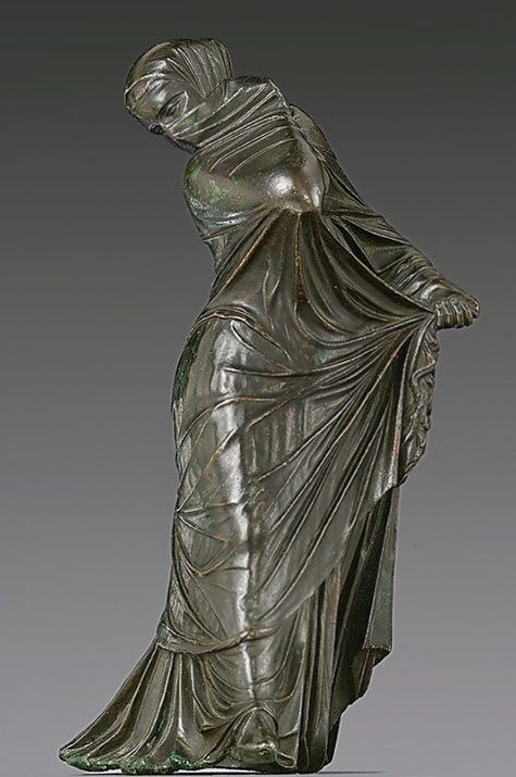 "Greek Hellenistic Statuette of Veiled Woman 3rd-2nd Century BC. An early Greek practice (not original to Islam) regarding ""wives"" being ""property"" NOT to be ""viewed""."