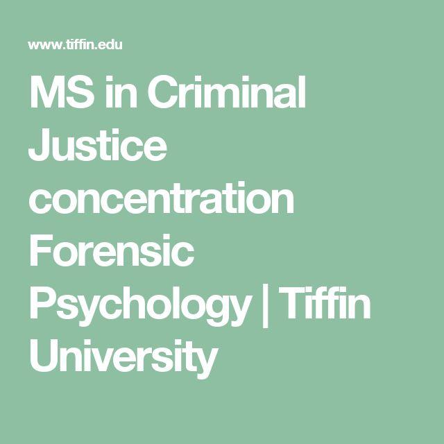 MS in Criminal Justice concentration Forensic Psychology | Tiffin University