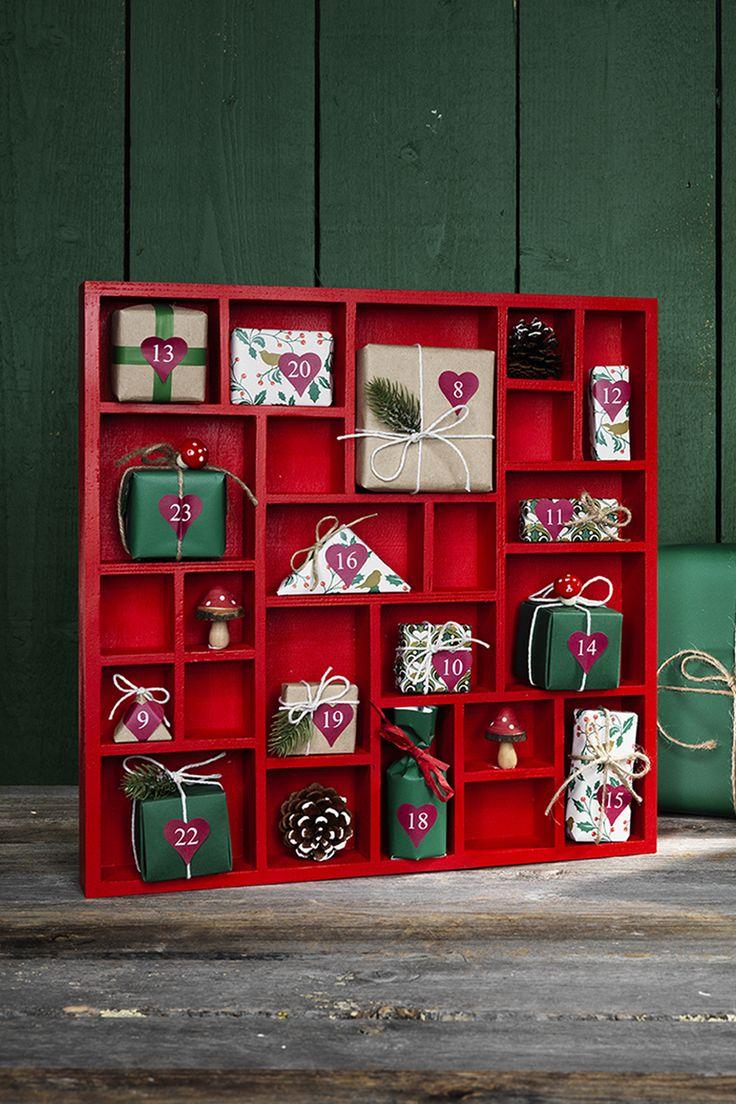 A gift a day www.pandurohobby.com Christmas Decor by Panduro #christmas #decoration #DIY #giftwrapping #christmascalendar #christmascountdown #julkalender #paketkalender #kalender #adventskalender #jul