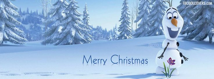 Merry Christmas Olaf Facebook Cover | Frozen Movie Snowman