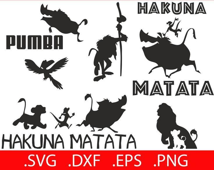 Hakuna Matata SVG Files - Hakuna Matata Svg Decal - Hakuna Matata Print - Timon and Pumbaa SVG - Lion King SVG Lion King Clipart Silhouettes by SVGmaster on Etsy https://www.etsy.com/listing/552430455/hakuna-matata-svg-files-hakuna-matata