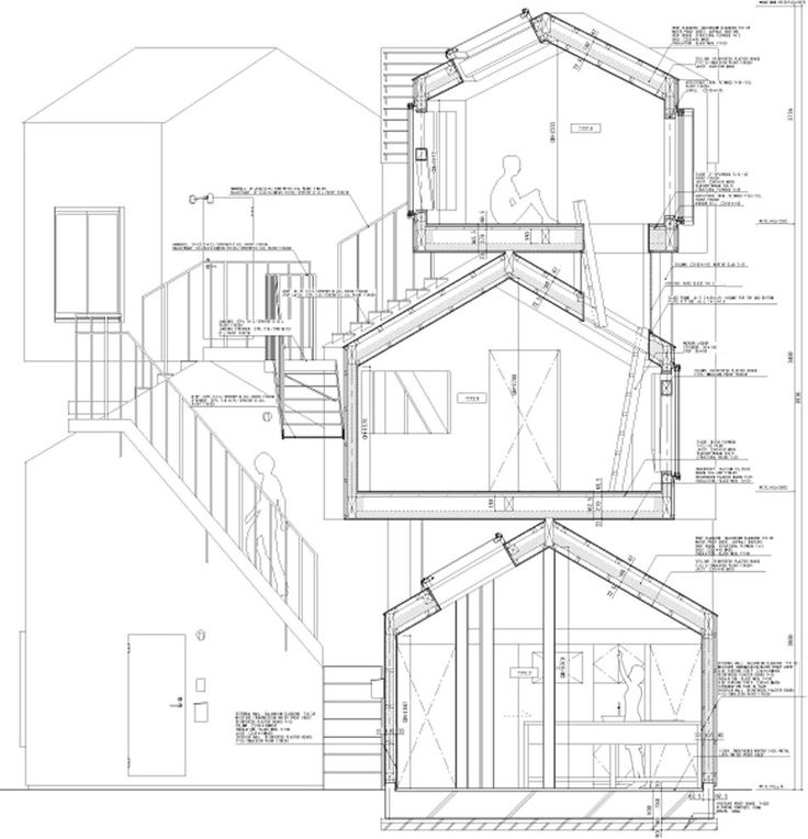 Section Drawing of the Tokyo Apartment project by Sou Fujimoto. Beautiful work.