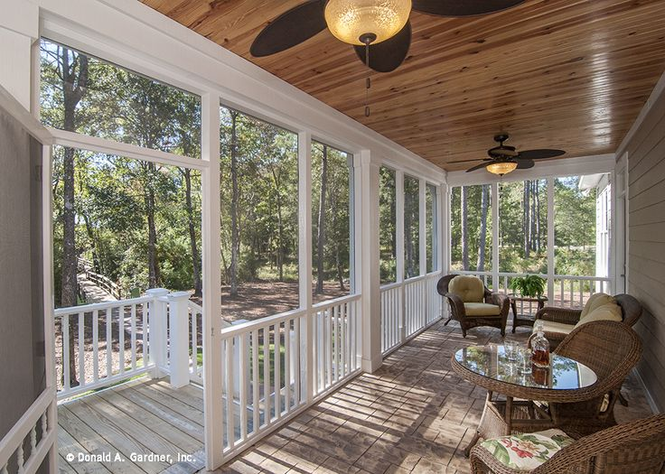 Screen Porch of the Lennon Plan #1300. Photographic Tour on Pinterest