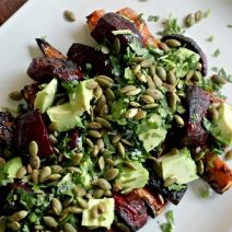 Grilled Beet & Carrot Salad with Avocado & Seeds | Edible Madison