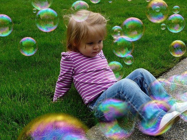 De kracht van de magie van een zeepbel