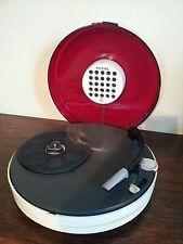 """Électrophone Philips """"curling"""" rouge"""
