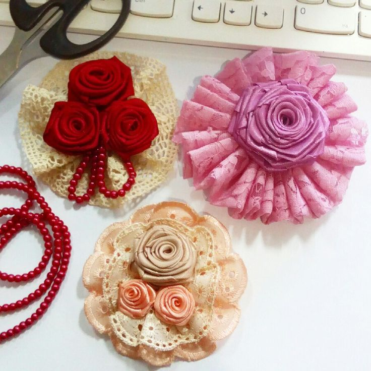 My first time handmade brooches!