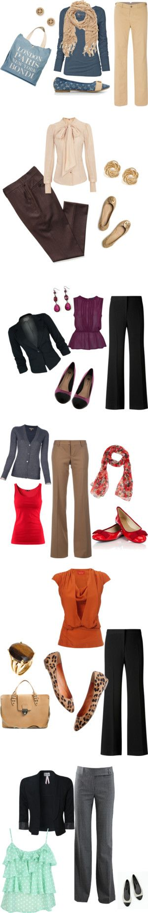 I like all of these! Practical, can wear mix and match for everyday wear  for work