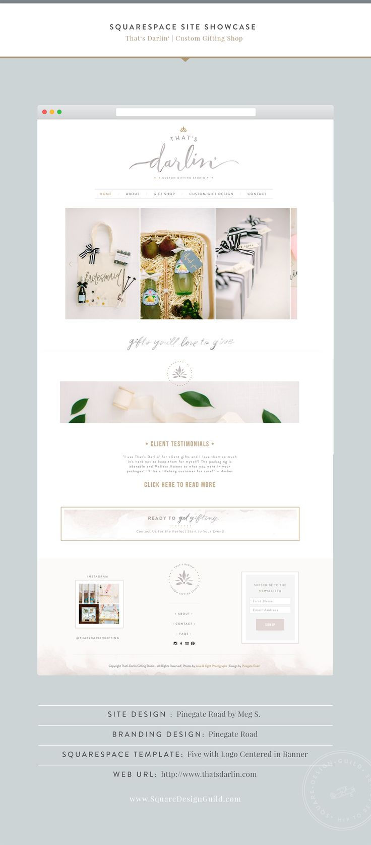 Squarespace Design Guild | That's Darlin by Pinegate Road | Five Template