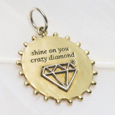 Crazy diamond charm #3210 > RRP $AUD33.00 | #palasjewellery #charms #empower #inspire #dreambig #sparklemore #love #lovepalas