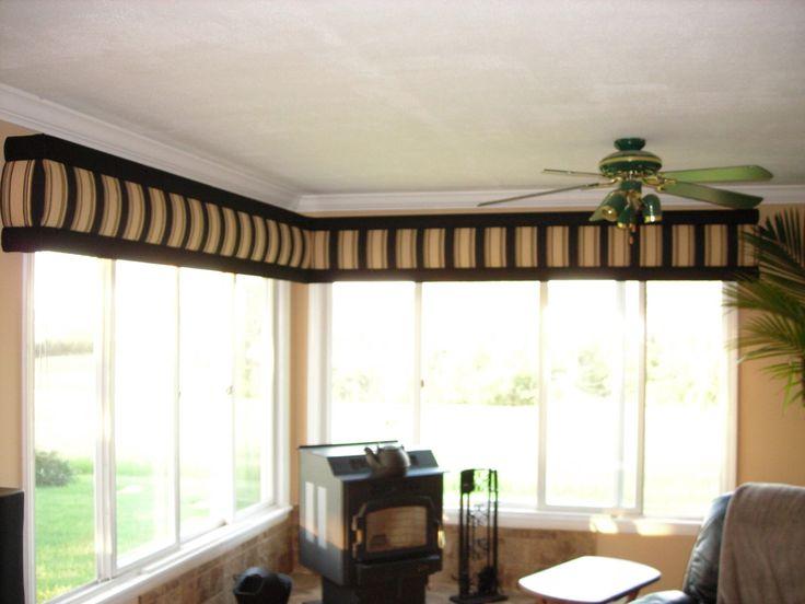 fabric covered cornice - bay window area | Wentworth ...