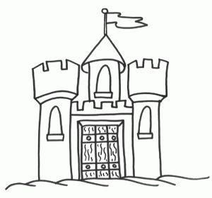 CASTILLOS PARA COLOREAR   Castle coloring page, Coloring ...