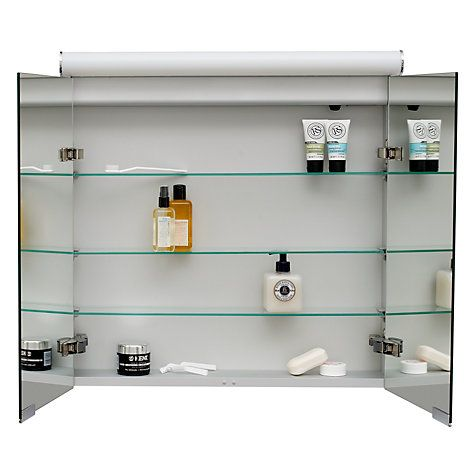 Buy Roper Rhodes Latitude Illuminated Double Bathroom Cabinet with Double-Sided Mirror Online at johnlewis.com