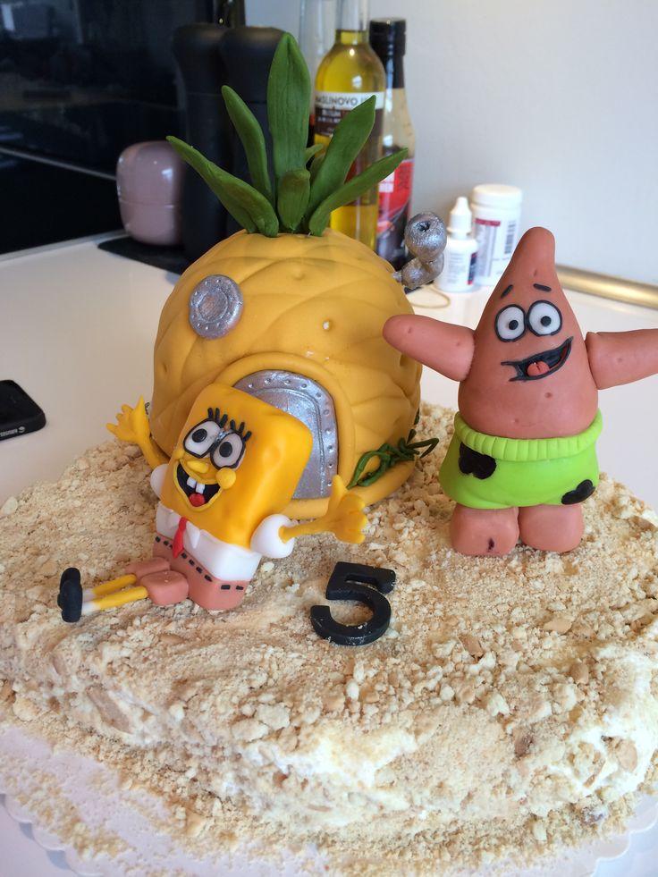 Spongebob fondant cake kage svampebob