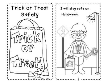 halloween safety tips for trick or treating easy reader a great way to review - Halloween Safety Coloring Pages 2