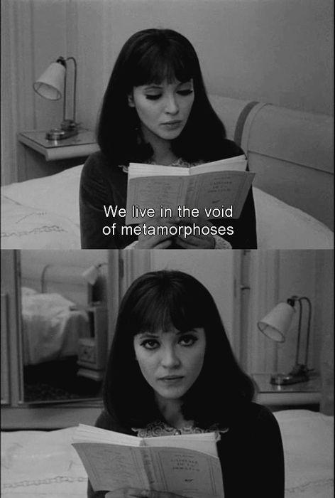 Anna Karina in Alphaville (1965) by Jean-Luc Godard