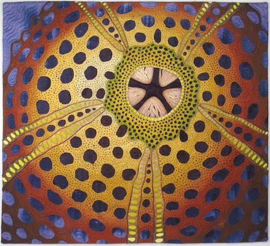 """Urchin II 28""""x 30""""    Featured at the Brush Gallery in Lowell Mass    Private collection"""