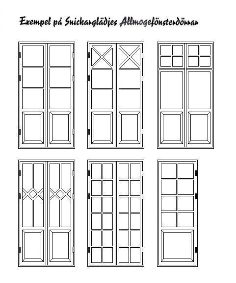 Fönster är husets öga! Hos Snickarglädje hittar du nytillverkade allmogefönster och allmogedörrar. Använd tidstypiska fönster - för den rätta känslan!