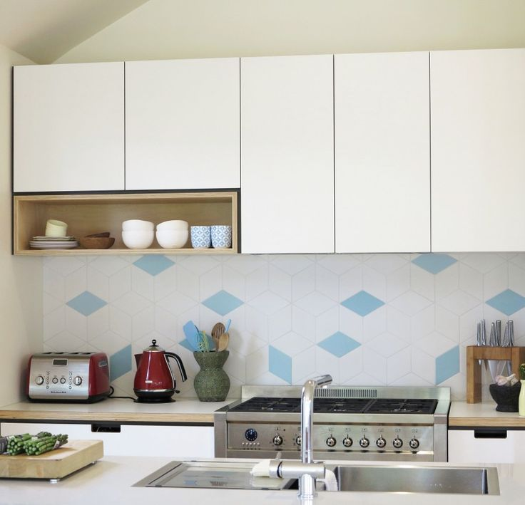 Diamond Tile Detail In Cantilever Kitchen 1