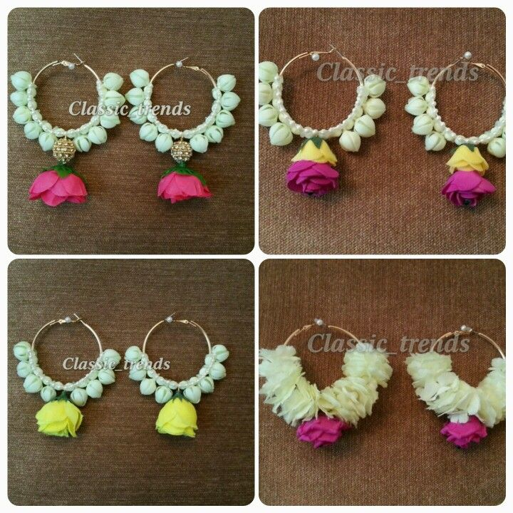 Flower hoops for mehndi...artificial  flowers                                                                                                                                                      More