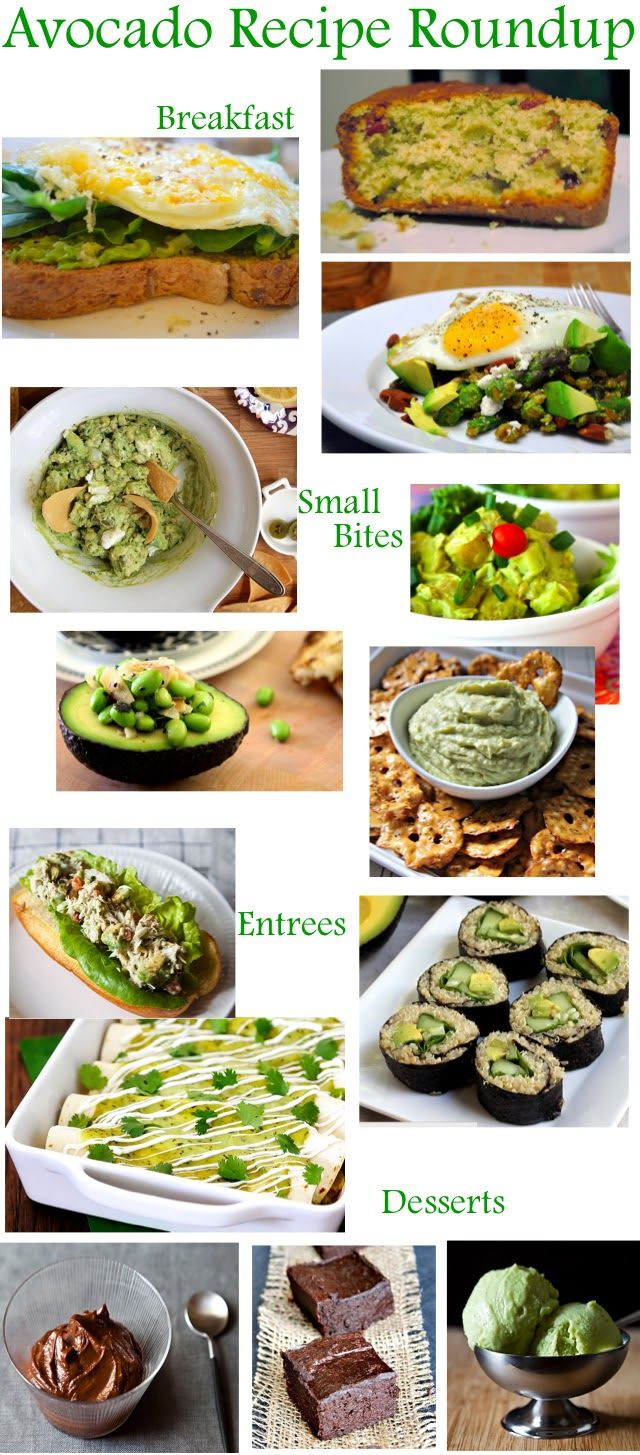 Luci's Morsels: Avocado Recipe Roundup  -- Thank goodness we have an avocado tree in our backyard :]