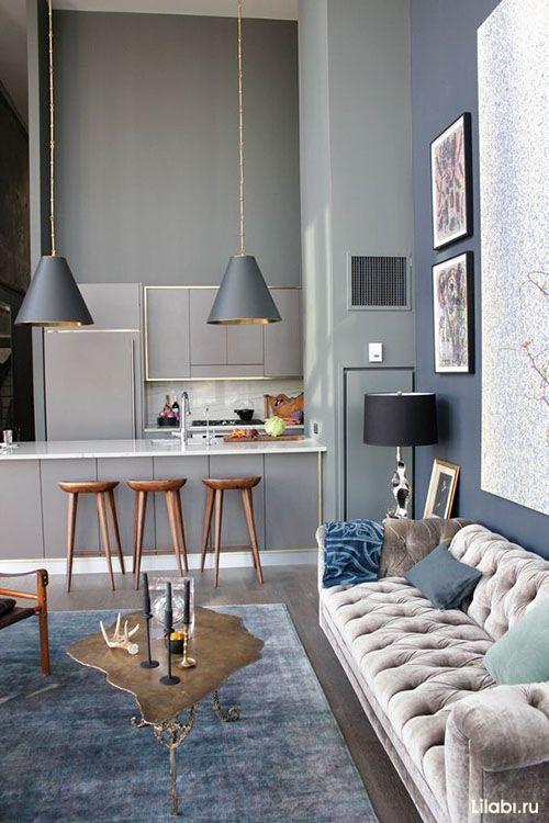 Серый цвет в интерьере гостиной и спальни. Сочетание цветов с серым цветом. Фото
