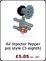 Air Injector Pepper pot style (3-eighth) http://www.hottubrepairman.co.uk/spa-parts-online/