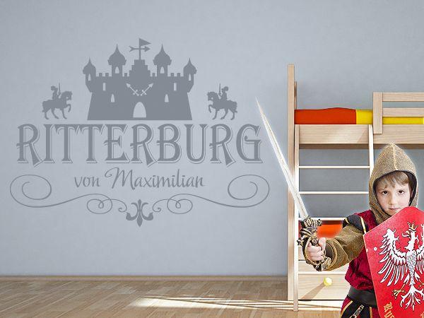 Edles Rittermotiv fürs Kinderzimmer. Idividualisierbar mit dem Namen Ihres Kindes