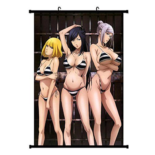 Onecos Prison School Logo Poster Fabric Scroll Painting Wall Picture 1PCS -- Continue to the product at the image link.