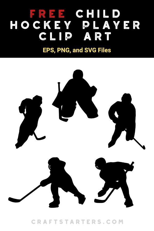 Free Child Hockey Player Silhouette Clip Art Kids Silhouette Hockey Silhouette Clip Art