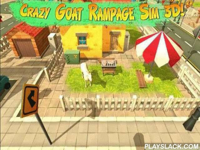 Crazy Goat Rampage Sim 3D  Android Game - playslack.com , Control an insane goat running through the municipality. ruin everything in your route to get prizes. merchandise the violent goat into the large world of this game for Android. govern the goat on and leave confusion and harm behind. Run at the top speed and noise into barriers, containers, rods, vehicles, and other hindrances. Use mighty goat noisemakers to ruin different objects. ambush passers-by and stimulate them. The more you…