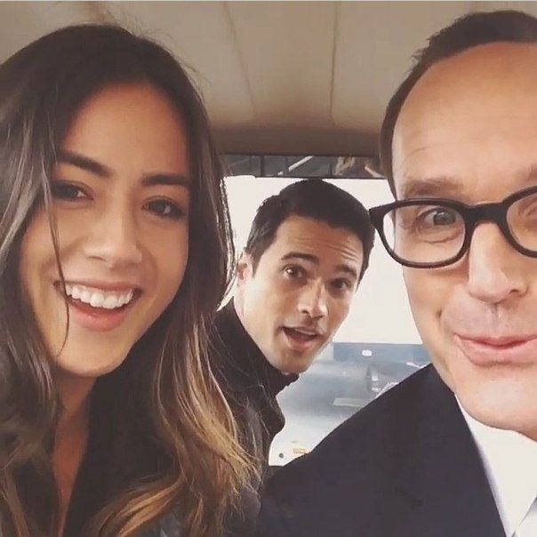 Chloe Bennet, Brett Dalton, & Clark Gregg......I LOVE THESE THREE actually I <3them all but.....you know...:)