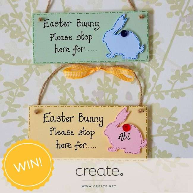 Win 1 of 2 amazing personalised Easter Bunny plaques from the wonderful Samigail's Handmade Personalised Gifts with #FreebieFriday! Enter over on our Facebook page. Good luck.