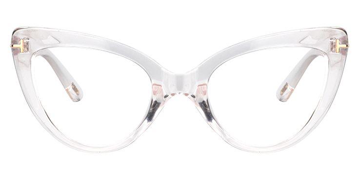 Cat Eye Crystal Eyeglasses FP0330-02 | Voogueme Optical Glasses