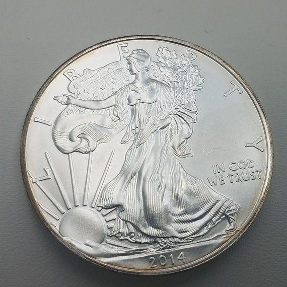 Silver Coin 1 Oz Silver Coin 2014 Silver Coin 2014 Silver Eagle Silver Investment Silver American Eagle 2014 Eagle Silver Gift Nel 2020 Monete