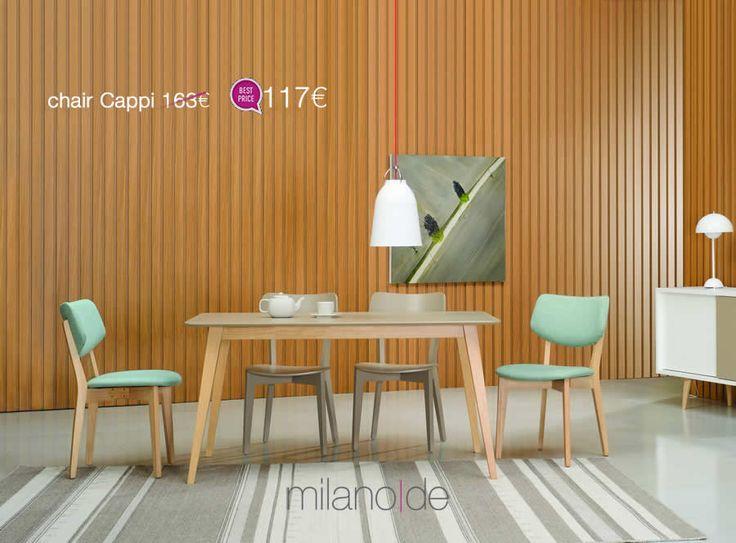 Άνεση, pop #design & ανάλαφρο μοτίβο για τη νέα #καρέκλα Cappi από τη Milanode.  https://www.milanode.gr/product/gr/2745/karekla_cappi.html