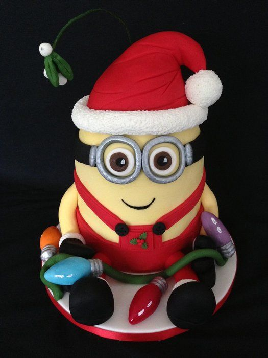 Santa Minion - by Loobyloo @ CakesDecor.com - cake decorating website