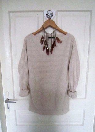 Kup mój przedmiot na #vintedpl http://www.vinted.pl/damska-odziez/swetry-z-dzianiny/15721657-prosty-bezowy-sweterek-l-40
