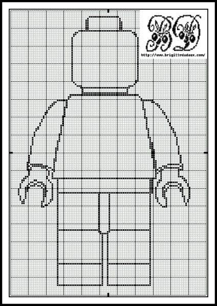 Lego man, found on : http://www.brigittedadaux.com/article-grille-gratuite-du-vendredi-figurine-lego-105766982.html