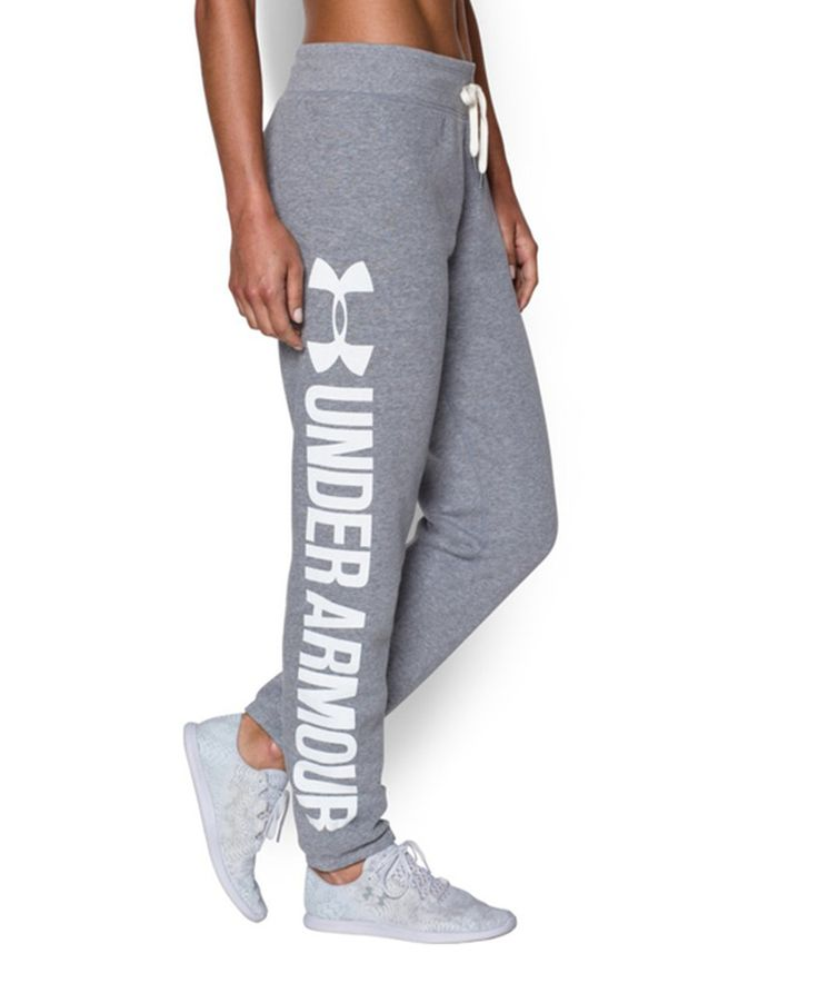Look at this #zulilyfind! Under Armour® True Heather Gray Favorite Fleece Word Mark Boyfriend Pants by Under Armour® #zulilyfinds