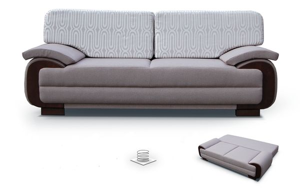 NOW ONLY £435 INC.VAT     *** INSTALMENTS 12 MONTHS   0 % *** ~~ FREE  DELIVERY !! ~~ DANIEL   Comfortable Sofa Bed With Its Own Built In  Container And A ...