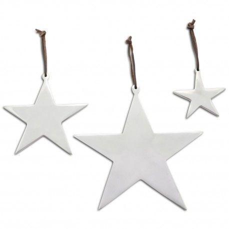 Xmas Star   Aluminium Christmas Star Decoration Set £16.99