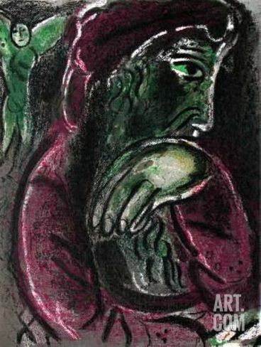 La Bible - Job Desespere by Marc Chagall. Collectable Print from Art.com, $899.99