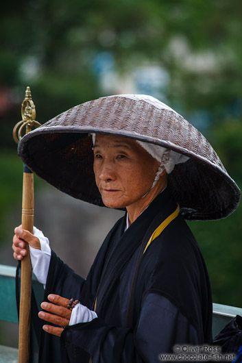 Monk in Kyoto, Japan