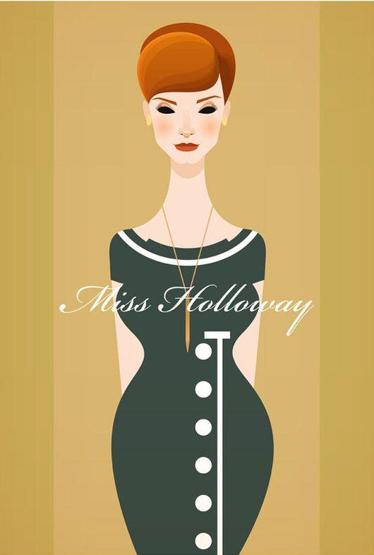 : Joan Holloway, Men Vector, Madmen, Illustration, Style Icons, Vector Artworks, Stanley Chow, Christina Hendricks, Mad Men Joan