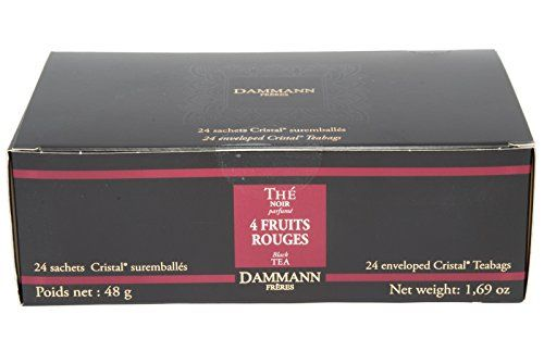 DAMMANN FRERES Four Fruit Rouges Black Tea 24 Cristal Teabags >>> You can get more details by clicking on the image. Note: It's an affiliate link to Amazon.