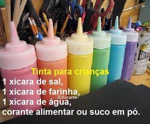 DIY- Tinta para crianças.