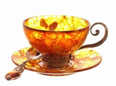 Baltic Amber Teacup - So pretty!